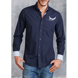 Ray Long-sleeved washed cotton poplin shirt