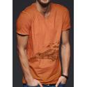 Tee-shirt délavé La naissance des Tortues