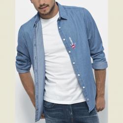 Ray Men's long-sleeved denim shirt