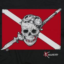 Tee-shirt Enfant Le Drapeau Pirate Plongée