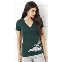 Tee-shirt Femme 3 matières La Naissance des Tortues
