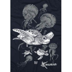 Turtles and Jellyfish Adult T-shirt