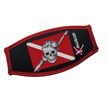 Bandeau de Sangle de Masque Drapeau Pirate Plongée