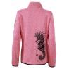 Veste Femme en Polaire tricoté L'Hippocampe Tatoo