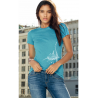 (New) Tee-shirt moulant Femme Le Requin Tatoo (Impression Poitrine)