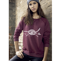 Turtles Ladies' organic cotton crew neck raglan sleeve sweatshirt