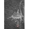 Tee-shirt délavé Le requin Baleine