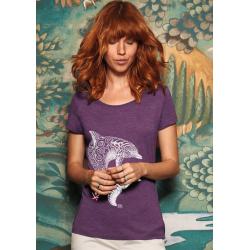 Tee-shirt Femme 3 matières Le Dauphin Tatoo
