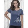 Tee-shirt indigo Le Requin Baleine
