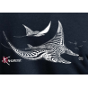 Sweat-Shirt Bio Zippé Capuche Femme le Requin Baleine