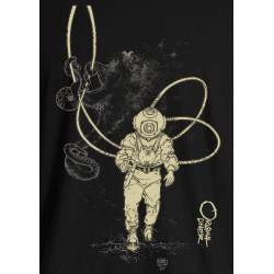 Octopus and Diver Adult T-Shirt