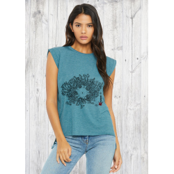 Gorgonocephale Ladies' flowy rolled-cuff T-shirt