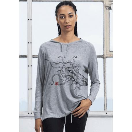 T-shirt capuche femme Les tentacules