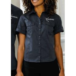 Manta Rays Ladies' Roll Sleeve Twill Shirt