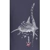 Tee-shirt Bio Femme avec poche Le Requin Baleine