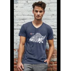 Grouper Organic V Neck T-shirt
