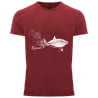 Tee-shirt délavé Le Requin Blanc et le Plongeur