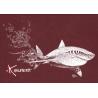 Tee-shirt Bio Femme Le Requin Blanc et la Plongeuse