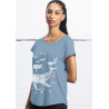 Tee-shirt Slub Loose Les Baleines